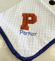 Basketball Initial Blanket