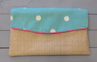 Aqua Dot Madison Clutch