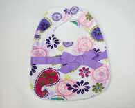 Purple Paisley Bib with Bow