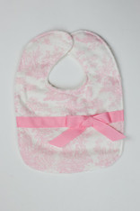 Pink Toile Bib with Bow