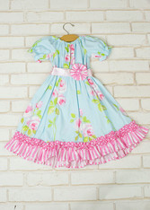 Blue Roses Priscilla Dress