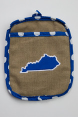 Burlap KY Pot Holder