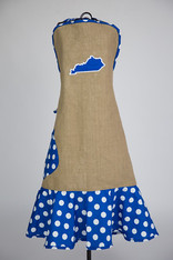 Burlap and Blue KY Apron