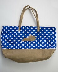 Blue and Burlap KY Beach Bag