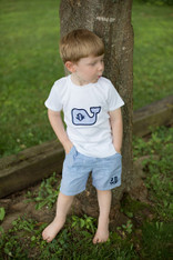 Whale Monogram Shirt and Short Set