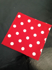 Red and White Polka Dot Napkin