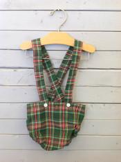 Red and Green Plaid Suspender Bloomers
