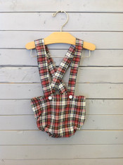 Red Plaid Suspender Bloomers