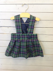 Green and Navy Plaid Jumper