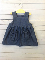 Denim Kelly Dress with Pockets
