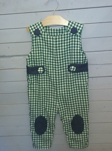 This adorable boys long Jon Jon is perfect for fall and winter too! A shirt of choice can be wore underneath.