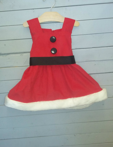 This Christmas dress is so precious and adorable. It is very Stylish and Christmas themed!