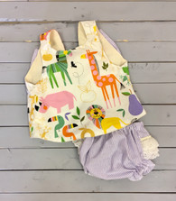 Zoo Animals Top and Bloomers
