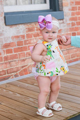Zoo Animals Top and Pink Gingham Bloomers