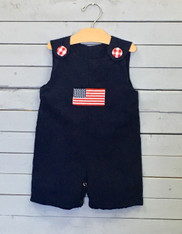 Navy American Flag Short Jon Jon