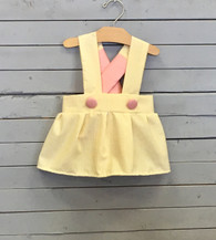 Yellow Seersucker Charlotte Dress