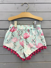 Flamingo Shorties with Tassels