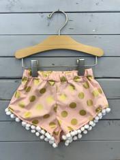 Gold Polka Dot Shorties