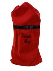 Red Swirls Santa Bag