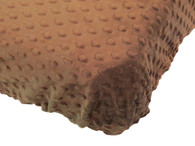 Brown Minky Fitted Bed Sheet