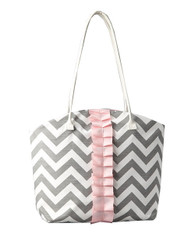 Gray Chevron Brooklyn Diaper Bag