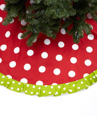 Red with Green Trim Tree Skirt