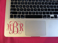 Key board vinyl monogram