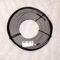 7mm or 1/4 inch diameter twin conductor heating cable.  12 W/F max 50 W/SF.  Covers 100-143 SF in concrete or under asphalt