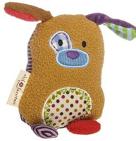 """Tan Stuffed Toy Rattle - 5"" high"""