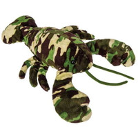 """Camouflage Stuffed Lobster - 12"" long"""
