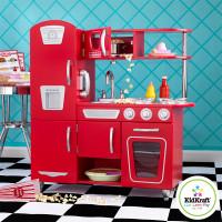 kidkraft retro red kitchen