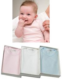 emotion and kids self-stripe cotton rib bodysuit