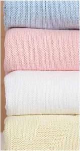 knitted cotton bassinet blanket