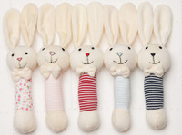 emotion and kids bunny stripe stick rattles