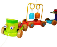 wooden musical train toy