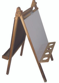 Qtoys 5-in-1 activity easel - white board side