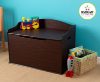 austin toy box - dark wood/espresso