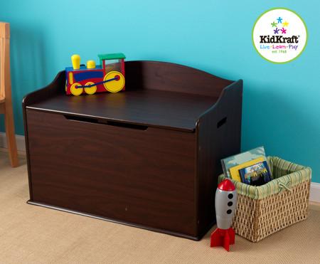 High Quality KidKraft Austin Toy Box Espresso