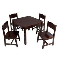 kidkraft dark wood table and chairs