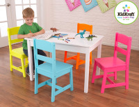 kidkraft highlighter table and chairs