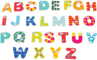 wooden magnetic capital letters abc