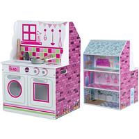 2 in 1 kitchen dollhouse