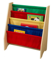 KidKraft Sling Bookshelf - Primary Colours