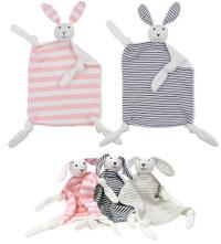 Bunny Stripe Baby Blankie Comforters