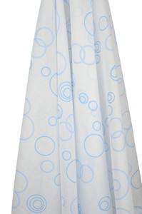 blue bubbles muslin wrap