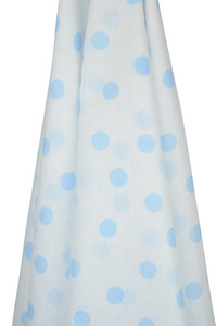 emotion and kids blue spots muslin wrap