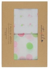 gelati spots and stars swaddle set