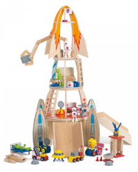 Plum Super Space Rocket with figurines