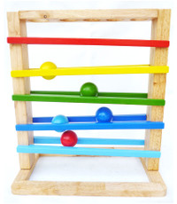 kids wooden tracking toy