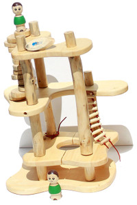 qtoys wooden tree construction toy set